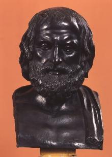 Eurypides, kopia rzeźby Lizypa z Sykionu z ok. 330 r. p.n.e, wykonana w wytwórnii G.A. Lagana w Neapolu, ok. 1900 r., brąz