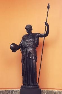 Atena Lemnia, rekonstrukcja rzeźby Fidiasza z ok. 450 p.n.e., wykonana w WMF Geislingen (Niemcy), 1905–1909 r., brąz
