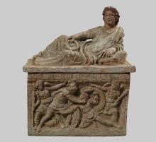 Urna grobowa z pokrywką, Etruria, Italia, II w. p.n.e.