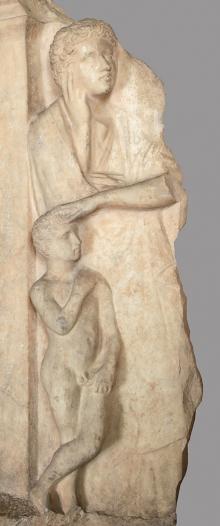Stela nagrobna, fragm., Grecja, Ateny, ok. 450 r. p.n.e.