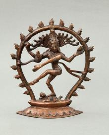 Nataradźa - Śiwa tańczący, Indie, początek XX w., 21,1 x 18,5 x 3,6 cm, fot. G. Solecki, A. Piętak