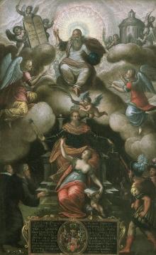Pancratius Reinicke, Gloryfikacja księcia Filipa II, 1608, olej, blacha miedziana, 32 x 20 cm, fot. G. Solecki, A. Piętak