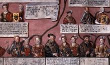 Cornelius Krommeny, Drzewo genealogiczne książąt pomorskich, fragm., 1598, tempera, płótno, całość 190 x 694 cm, fot. G. Solecki, A. Piętak