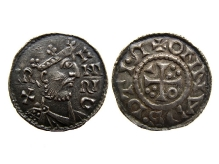 Bawaria Henryk II (cesarz), denar, 1009/10, mennica Ratyzbona, srebro, Ø 20,2 mm, fot. M. Pawłowski