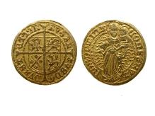 Bogusław X, gulden, 1498/1499, mennica Szczecin, złoto, Ø 23,3 mm, fot. M. Pawłowski