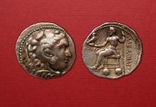 Grecja, Macedonia, Aleksander III Wielki, tetradrachma 336 – 323 p.n.e., srebro, Ø 28,2 mm, fot. M. Pawłowski