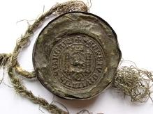 Pieczęć sekretna miasta Stargardu, odcisk woskowy, koniec XIV w., Ø 65,7 mm, fot. M. Pawłowski