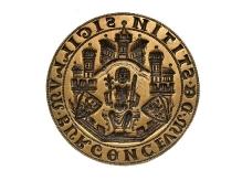 Pieczęć miasta Szczecina, po 1242, brąz, Ø 69,8 mm, fot. M. Pawłowski