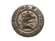 Pieczęć miasta Szczecina, 1. połowa XV w., srebro,  Ø 44,3 mm, fot. M. Pawłowski
