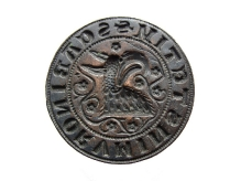 Pieczęć miasta Szczecina, 1. połowa  XIV w., brąz, Ø 45,6 mm, fot. M. Pawłowski