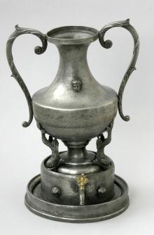 Johann David Kayser, Lavabo, cyna, Szczecin, koniec XVIII/pocz. XIX w., wys. 40 cm,