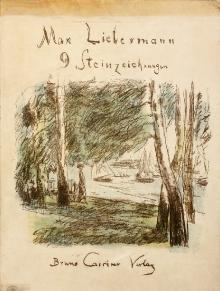 Max Liebermann (1847–1935), Pejzaż znad Wannsee, 1926, litografia barwna