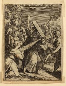 Aegidius Sadeler II (około 1570–1629), Jezus dźwigający krzyż, 1590, miedzioryt