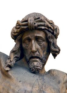 Krucyfiks z Chociwla, Mistrz Pasji Chociwelskiej, ok. 1500–1520, drewno lipowe, 204 x 173 cm, fot. G. Solecki