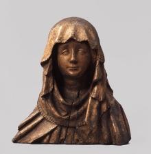 Matka Boska Bolesna z Białogardu, warsztat zachodniopomorski, 2 ćw. XV w., drewno lipowe, 36 x 34 cm, fot. G. Solecki