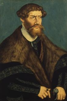 Lucas Cranach Młodszy (1515–1586), Portret księcia pomorskiego Filipa I, 1541, olej, deska, 60 x 46 cm, fot. G. Solecki