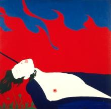 Jerzy 'Jurry' Zieliński (1943-1980), Fakt, 1972, płótno, płyta, 150 x 150 cm, fot. Grzegorz Solecki