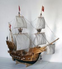 Model okrętu liniowego z XVIIw.