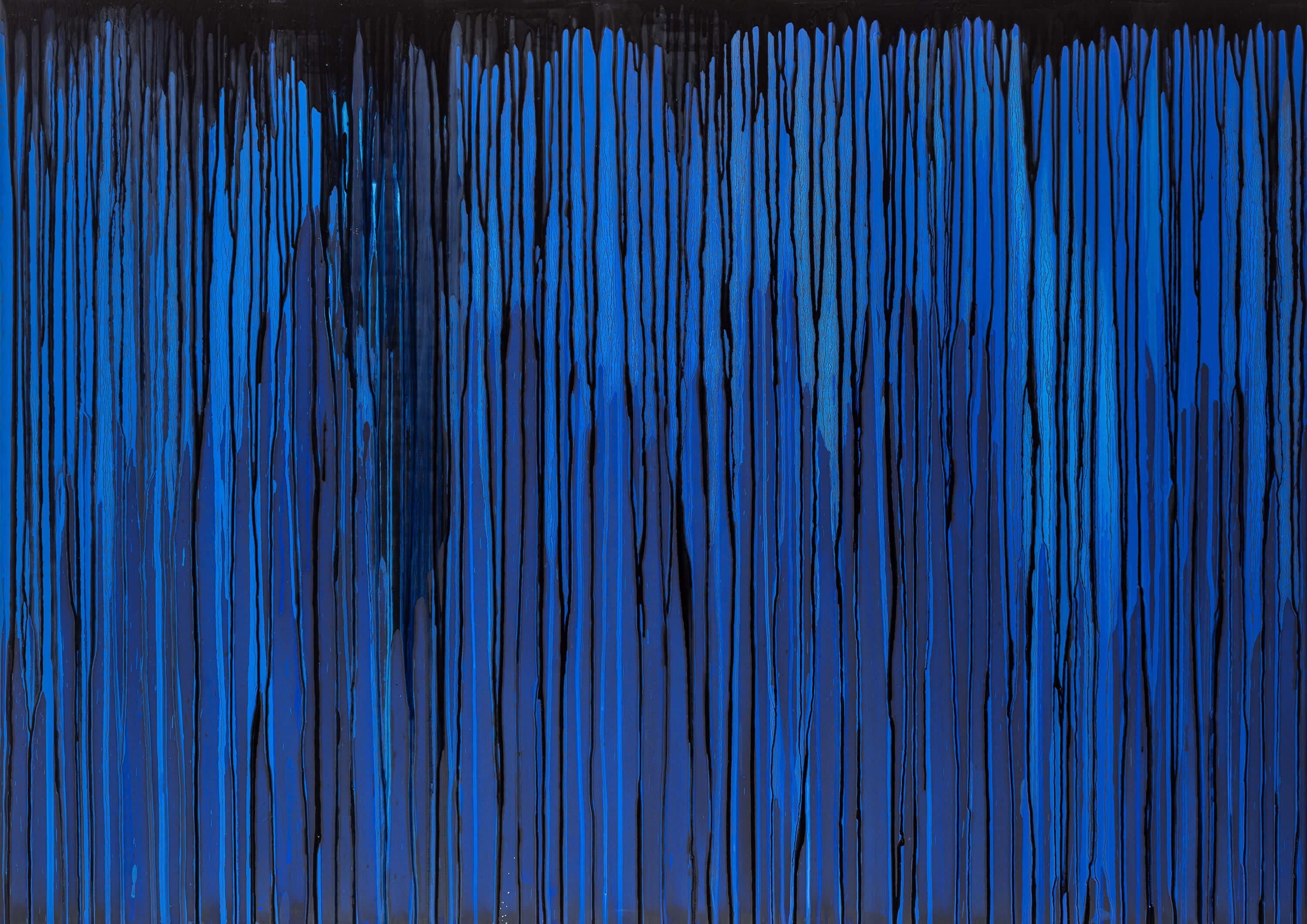 Joanna Borkowska Frequencies Blue 2013 oil and pigments on canvas 140 x 100 cm