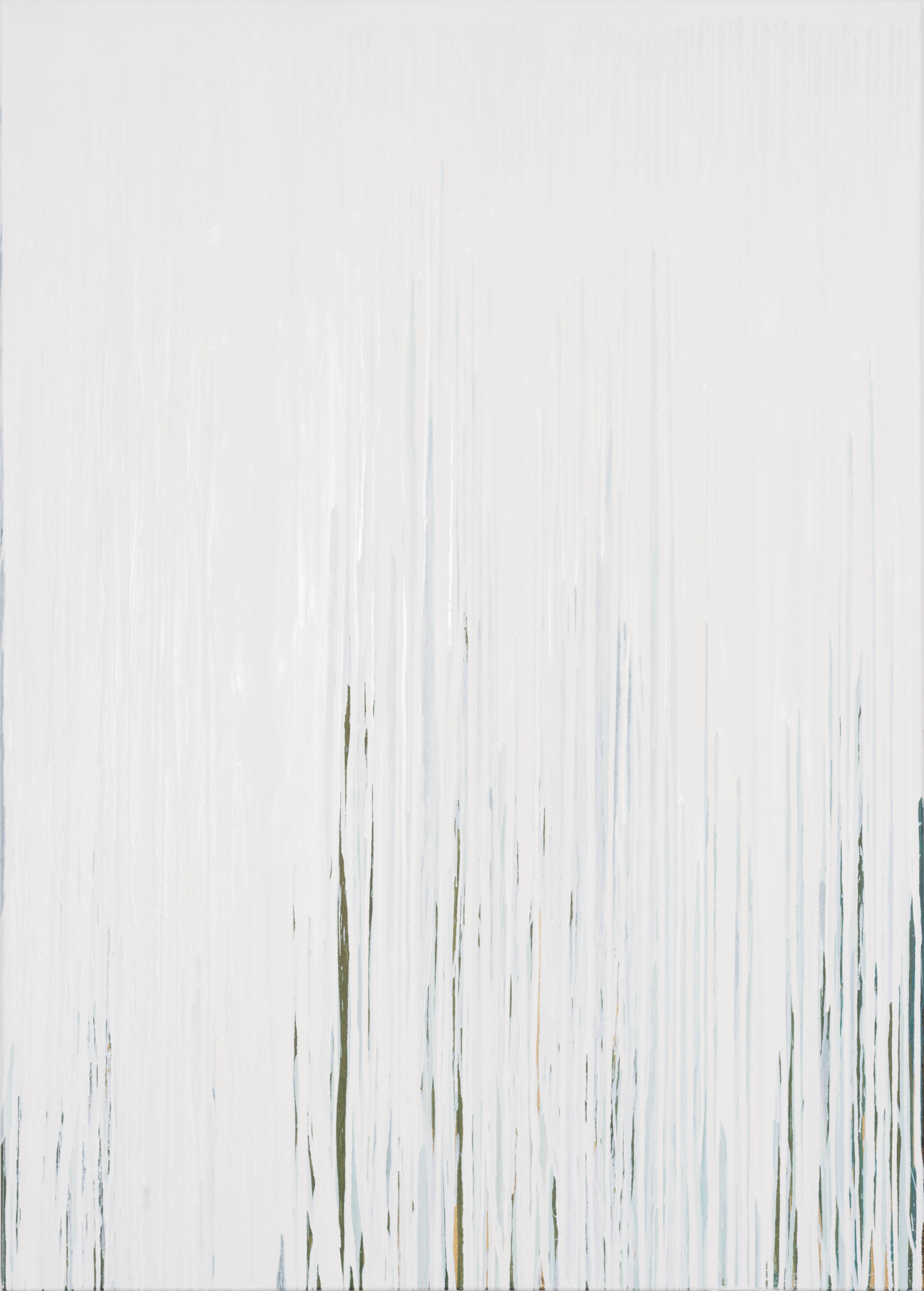 Joanna Borkowska Frequencies White 2014 oil and pigments on canvas 140 x 100 cm