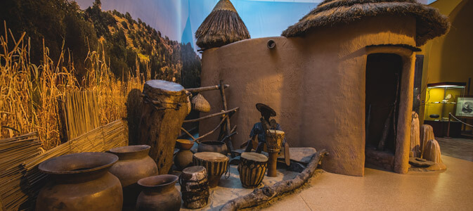 In African village - National Museum in Szczecin Poland